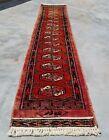 Hand knotted Vintage Pakistan Bokhara Jhaldar Wool Area Runner 5 x 1 Ft