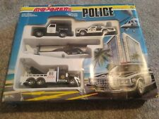 Majorette Vintage Die Cast Police Vehicle Boxed Set 950 , Rare Unplayed With