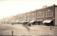 Kalkaska MI~Dirt Main St Hardware~Other Businesses~Early Autos~Bicycle~RPPC 1920