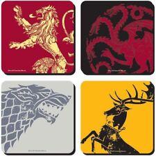Game of Thrones Untersetzer 4er Set Coaster Stark Targaryen Lannister Baratheon