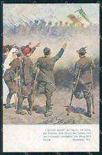 Militari WW1 Isonzo Carso Carnie Cadore Alpini CRI Beltrame cartolina XF8529