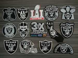 Oakland Raiders Sport Team Embroidered Iron or Sew on Patches on Coat/Jacket/Hat