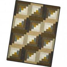 Shadow Play Woolies Flannel - 12 Block Log Cabin Quilt Pod - Hazelnut