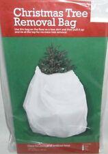 """Christmas Tree Removal Bag  144"""" Circumference x 85"""" High  WHITE BAG"""