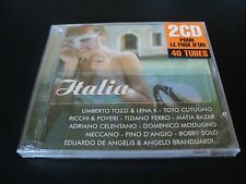 "COFFRET 2 CD NEUF ""REMEMBER ITALIA"" Umberto TOZZI Ricchi & Poveri Tiziano FERRO"