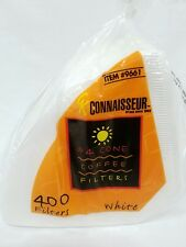 Connaisseur #4 Cone Coffee Filters White 400 Count Fits Melitta Krups Braun