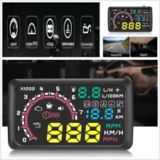 5.5inch Car OBD2 HUD Head Up Display Truck Fuel Consumption Speed Warning System