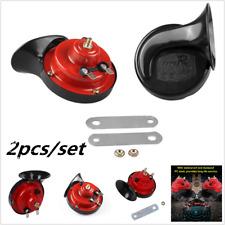 2pcs 12V Compact Car Snail Dual Tone Electric Pump Siren Loud Air Horn Truck New
