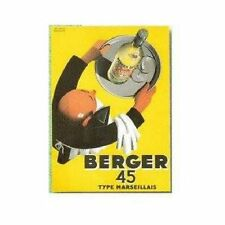 FRENCH VINTAGE POSTER 50x70cm RETRO AD BERGER 45 PASTIS MARSEILLE
