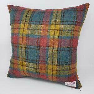 Genuine Harris Tweed tartan check Wool handmade Machair Cushion Cover