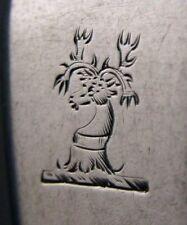 RARE SUGHERO Georgiana-Irlandese PROVINCIALE Argento Sterling Renna Crested Mestolo 1820