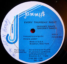 "Gregory Isaacs Every Thursday Night US 12""Lovers Jammys PJADIS 003 Dub Ver VINYL"