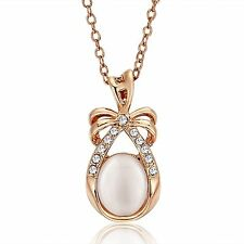 Necklace with Cat's eye stone 18Kgp Gold Plated  NE100988 date gift mom