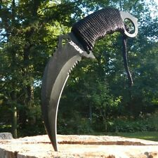 "10"" Mtech Black Out Big & Long Karambit Dagger Claw Hunter Knife Full Tang Blade"