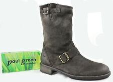 Paul Green Schaftstiefel 1404 mit seitl. RV  Farbe:grau Metalliclook Gr. 5,5