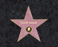 Walk Of Fame Personalized Art Home Decor Printed 8X10 Photo Custom Bedroom