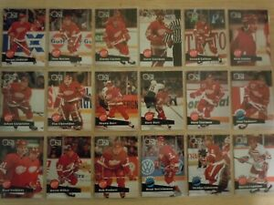 1991-92 Pro Set DETROIT RED WINGS Team Set - 29 Cards - LIDSTROM ROOKIE CARD RC