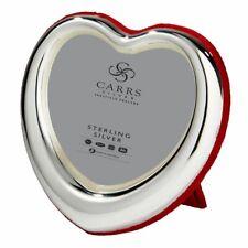 Zilveren fotolijst hart rood velours achterzijde HT01/r