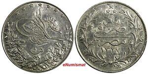 Egypt Muhammad V Silver 1327 (1913) H 5 Qirsh aUNC KM# 308 (18 024)