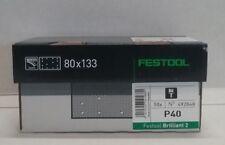 Festool Brilliant 2 Abrasive sheet 80x133mm 40G 50 Pack