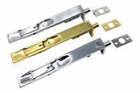 """Frelan FLUSH BOLT Lever Action Edge Finger Slide Lock for Double Doors 8"""" 200mm"""