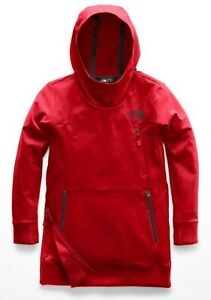 Boys The North Face Kids Tekno Pullover Hoodie M (10/12) Red NWT $85 MSRP