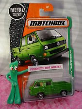 2017 Matchbox #95 VOLKSWAGEN TRANSPORTER CAB☆Green VW☆empty bed☆EXPLORERS