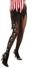 Pirate Skull & Crossbones Tights Hosiery XL Plus Size Fancy Dress 16-20
