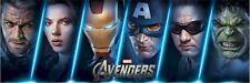 AVENGERS ~ FACES DOOR 21x62 MOVIE POSTER Iron Man Thor Captain America Hulk Hawk