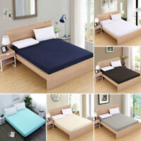 Hotel Home High Quality Mattress Protector Fitted Sheet Bed Cover All Sizes hot