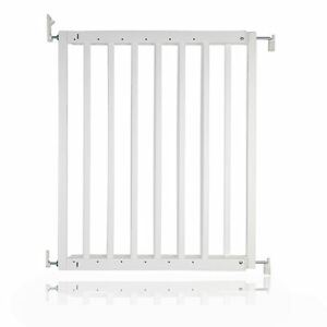 Safetots Chunky Wooden Screw Fit Dog Gate White 63.5-105.5cm Puppy Pet Gate