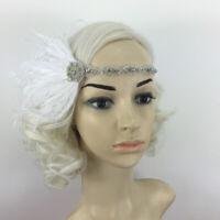 Feather Retro Vintage Headpiece 1920s Great Gatsby Flapper Headband Hairband