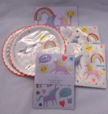 Unicorn Theme Birthday Cake Topper Plates Napkins