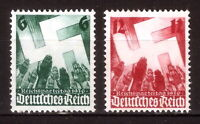 DR Nazi 3d Reich Rare WWII Stamp '1936 Salute to Swastika Rise NURENBERG Congres