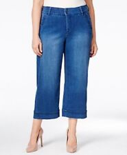Melissa McCarthy Seven7 20W Cropped Wide Leg Jeans, Cuffed