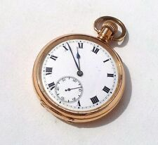 BEAUTIFUL ART DECO DENNISON 10ct GOLD FILLED SYREN SWISS MOVEMENT POCKET WATCH