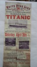 1912 RMS TITANIC MEMORABILIA - WHITE STAR LINE POSTER BEFORE ITS SINKING