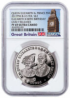 2017 British Indian Ocean Queen 80th Birthday Silver NGC PF69 UC ER SKU48450