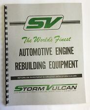 Storm Vulcan Model D-11A Engine Run In Stand Manual