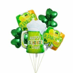 St. Patrick Day Beer Shamrock Balloons Party Decorations Party Supplies
