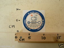 STICKER,DECAL ALFA- LAVAL KOELING SERVICE AGRI BV DONKERBLAUW