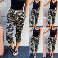 Womens Jogger Pants Camouflage Joggers Elastic Waist Casual Sweatpants Trousers