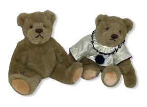 VTG Lot of 2 Bialossky Bears GUND Pierrot Clown Jointed 1982 Plush Stuffed Teddy