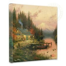 """Thomas Kinkade - End Of A Perfect Day  – 14"""" x 14"""" Gallery Wrapped Canvas"""