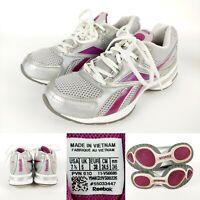 Reebok Womens Easytone Athletic Sneakers Silver/Gray/Purple Sz 7.5 Toning Shoes