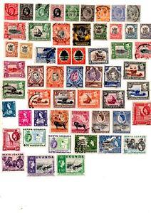 commonwealth stamps, kenya, uganda and tanganyika
