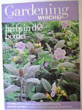 Gardening Which? Magazine. June, 2003. Herbs in the border. Waterlilies.