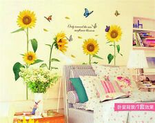 Sunflower Blossom Room Decor Removable Wall Stickers Decal Decoration Wandtattoo