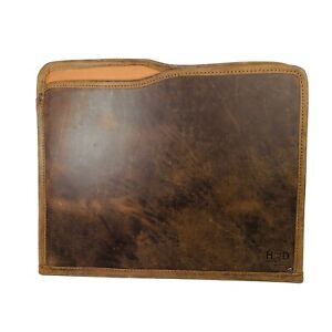 Hide & Drink Leather Portfolio Document Holder  13 X 10.5