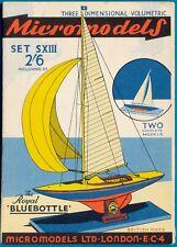Micromodels Original old set S XIII  The Royal Bluebottle (two complete models)